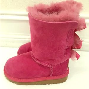 Kids UGG Bailey Bow Boots Size 7 infant/toddler